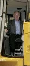 Bush in tractor