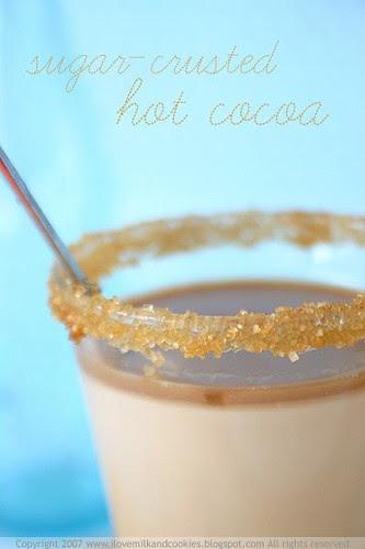 Sugar crusted hot cocoa