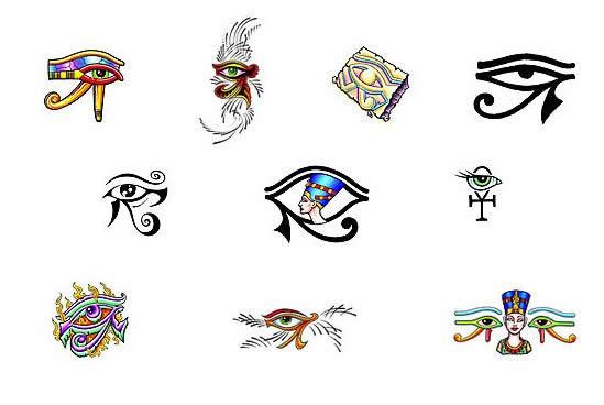 Egyptian Eye Of Horus Tattoo Design