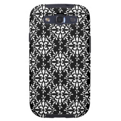 Cute Black and White Damask Pattern Galaxy S3 Covers