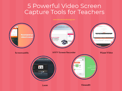 Some Very Good Video Recording Tools for Teachers
