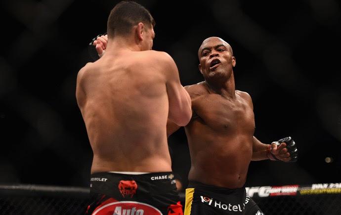 Anderson Silva x Nick Diaz, UFC 183 (Foto: Getty Images)