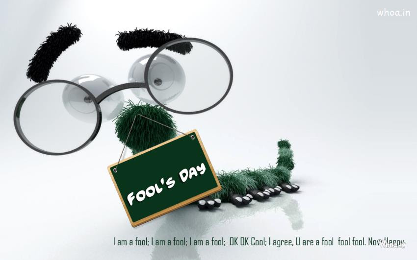 April Fools Day 2015 With Funny Face With Quotes Hd Wallpaper