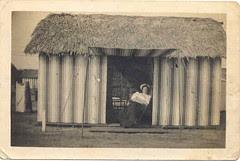 Grandma at Tent city, Coronado 1904
