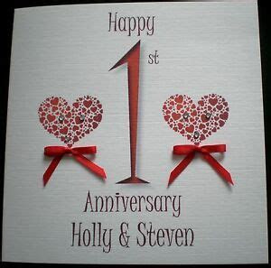 HAPPY WEDDING ANNIVERSARY PERSONALISED CARD 1ST 2ND 3RD
