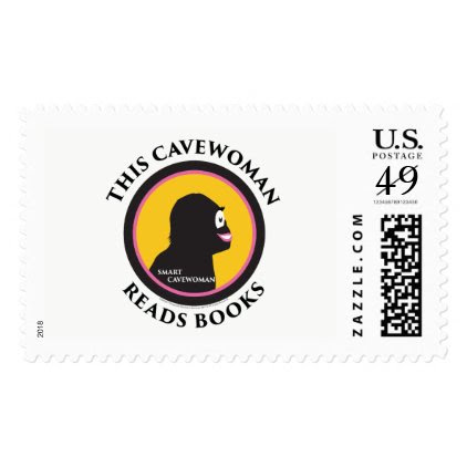 $0.49 Large Postage Stamps Read Smart Cavewoman