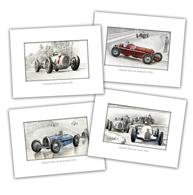 1934 GP Season Card set, Paul Chenard