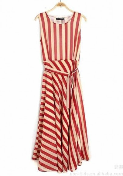 Dresses Sleeveless Bodycon Collarless Stripes outlet
