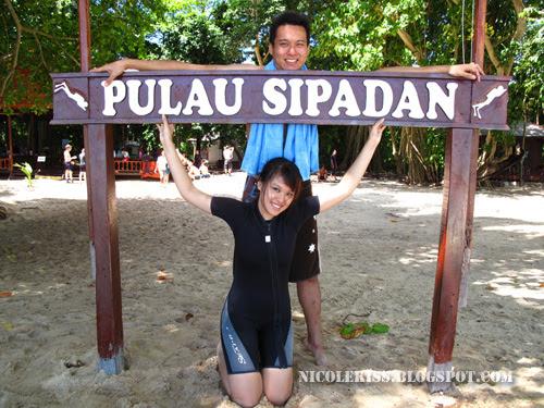 me and gerald at sipadan sign