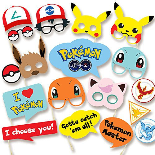 Pokemon Party Supplies Photo Booth Props Suitable For Birthday