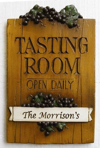 Wine Tasting Room Personalized Sign