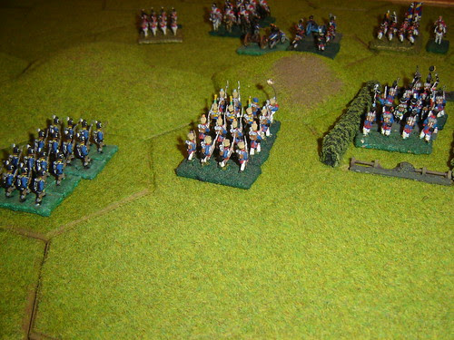 French clear central ridge of English defenders
