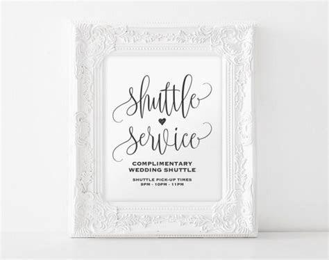 Shuttle Service Sign, Shuttle Service Printable, Wedding