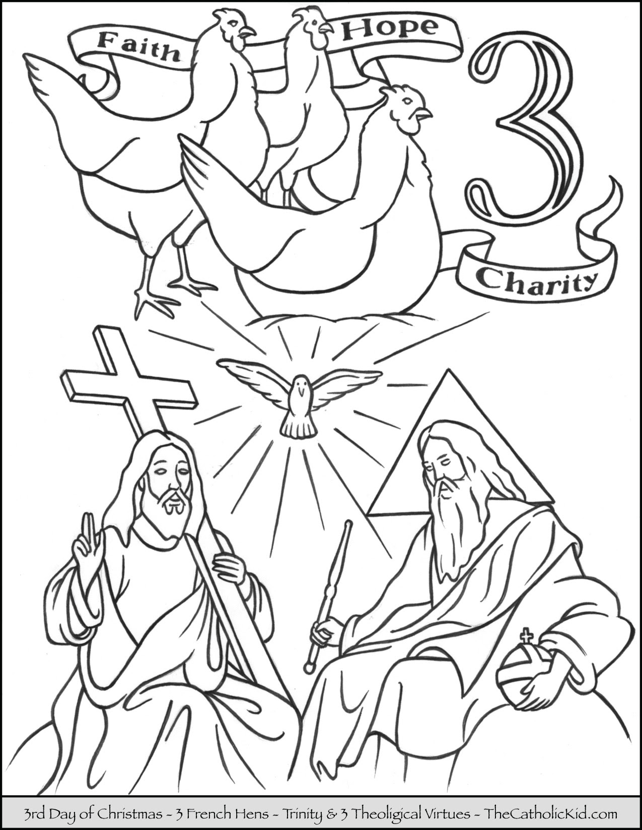 Twelve Days Of Christmas Coloring Pages Free at ...