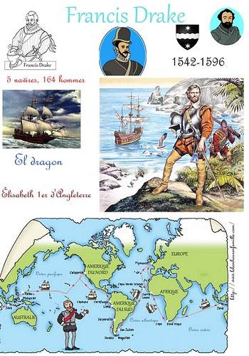 FFFFFFfiche explorateurs Francis Drake