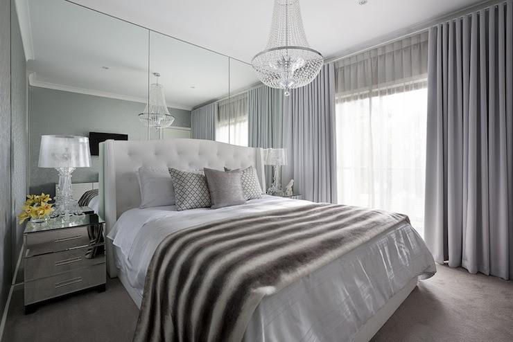 Floor to Ceiling Mirrors - Transitional - bedroom - Adore ...