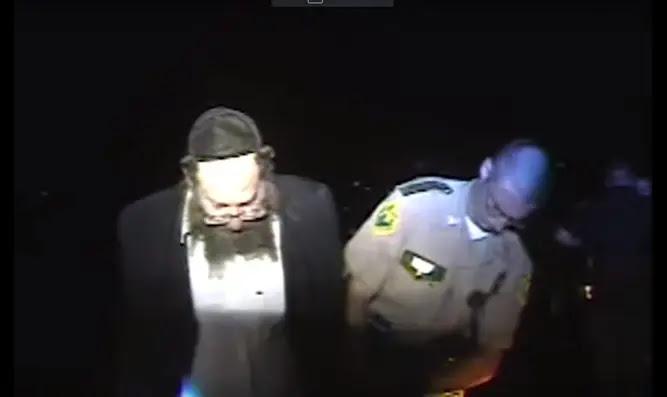 Rabbi Berl Fink at his arrest