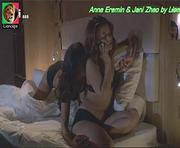 Anna Eremin e Jani Zhao em cenas quentes na novela Jogo Duplo