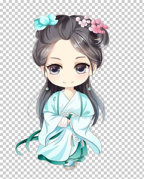 infant anime baby girl  black hair