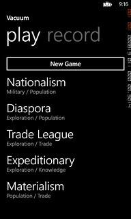 Windows Phone Codename: Vacuum App