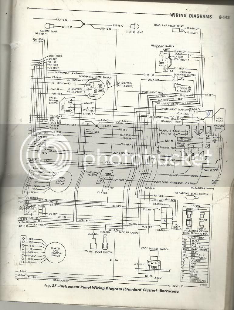 1970 Standard Dash Wiring Diagram