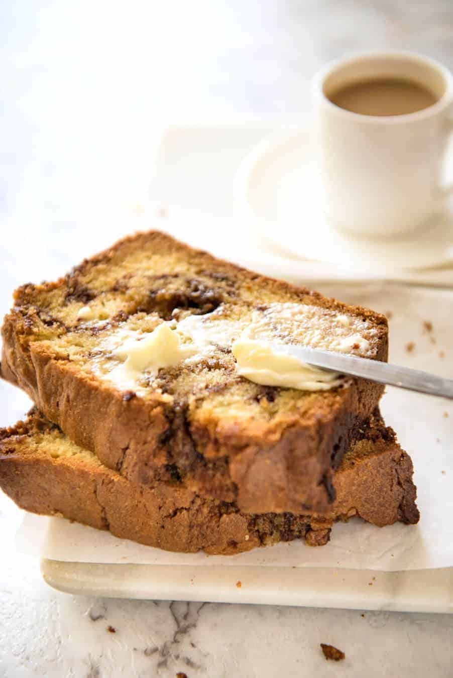 Easy Cinnamon Swirl Quick Bread | RecipeTin Eats