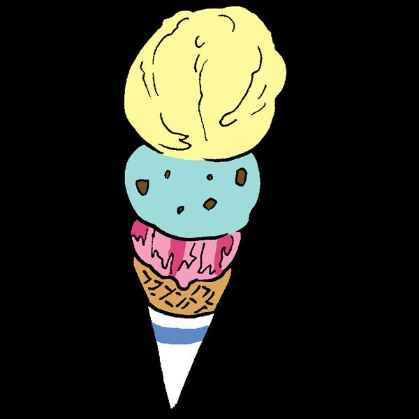 アイスクリームのイラスト かわいいフリー素材が無料のイラストレイン