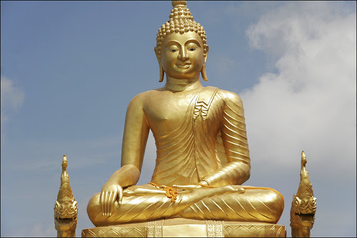 Smaller Gold Buddha next to the Big Buddha, Phuket