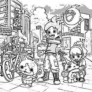 塗り絵 キャラクター 妖怪ウォッチ
