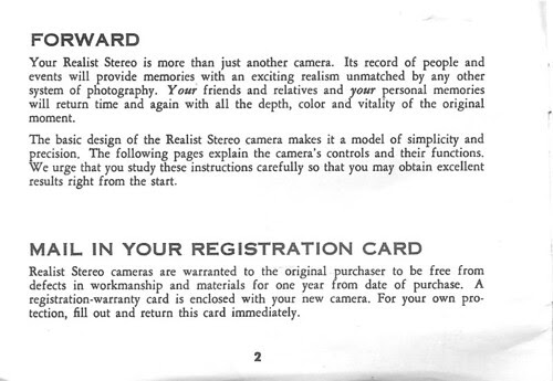 realist stereo camera instruction manual 2