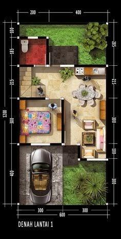 desain dinding rumah: desain rumah tanah belakang