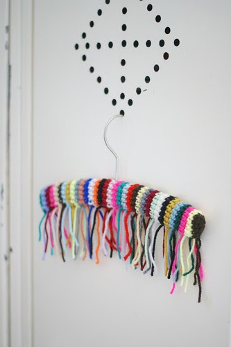 wood & wool fringes hanger by wood & wool stool