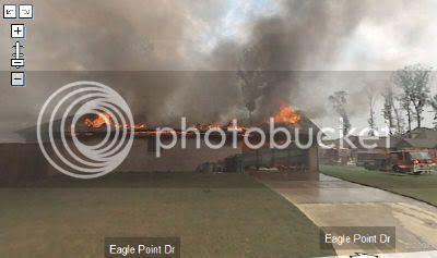 Google街景地图(Street View)拍摄到火灾景象