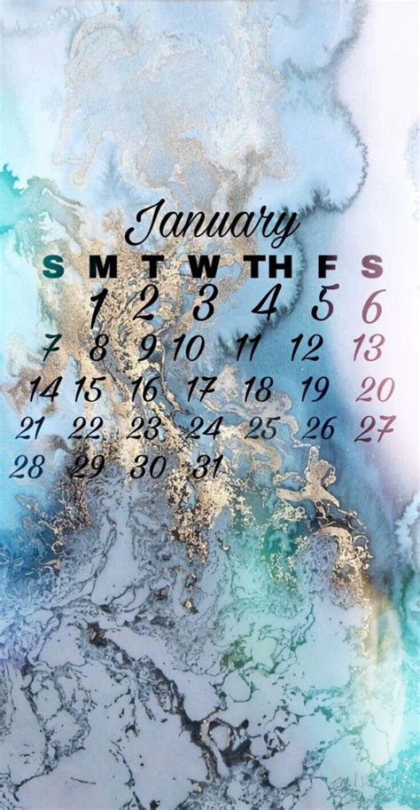 january calendar wallpaper  iphone stock en