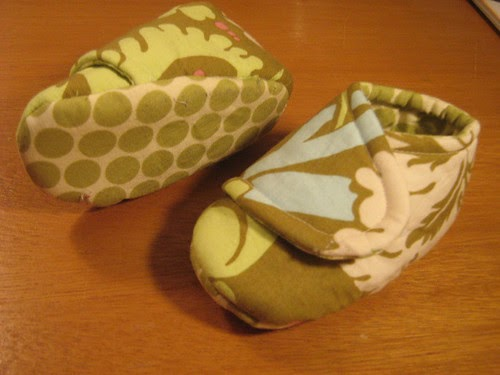 Your Fabric Place Handmade Fabric Baby Booties