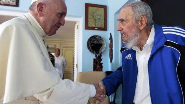 Papa Francisco y Fidel Castro en La Habana