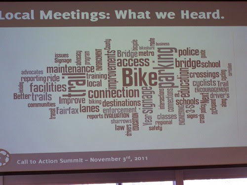 Local meeting results, Regional Call to Action Summit, Washington Area Bicyclist Association