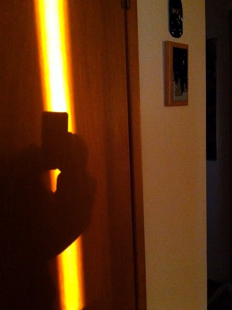 late afternoon light, hallway shadow