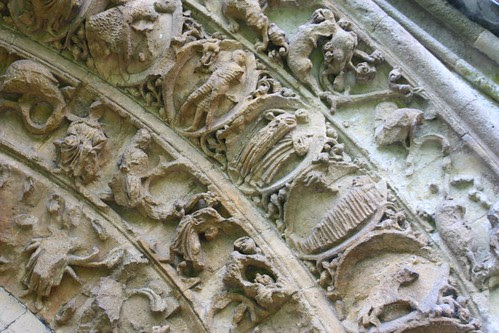 Intricate Carvings at Glastonbury Abbey