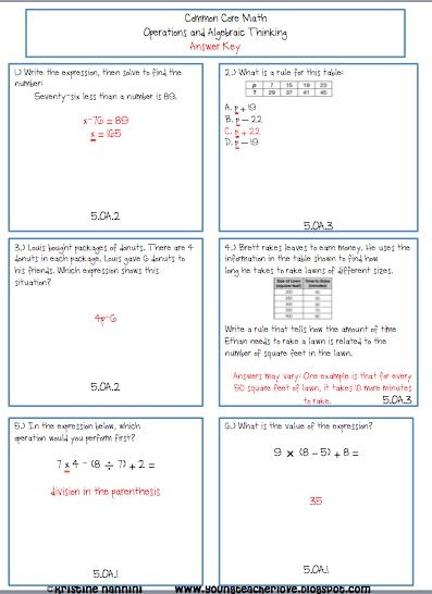 Math Expressions Homework And Remembering Grade 5 Answer Key