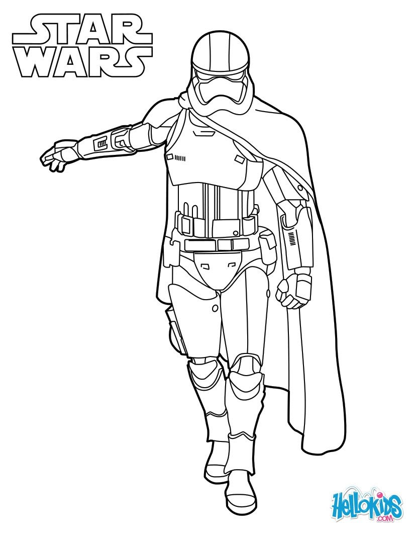 capitain phasma star wars coloring page 7r7
