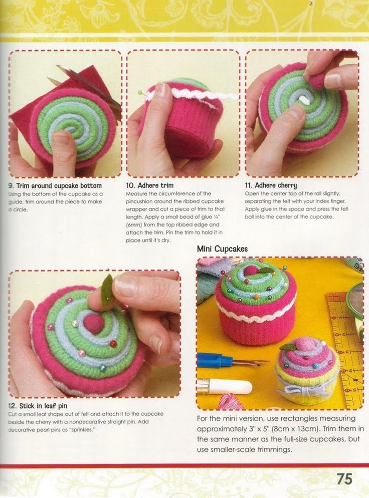 A GAIVOTA ARTESANATOS Filial 04: Cupcake de Tecido Passo a passo