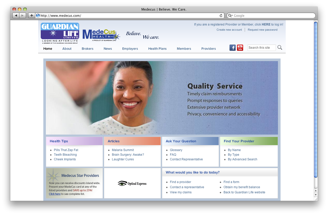 Insurance Company: Guardian Life Insurance Company Jamaica