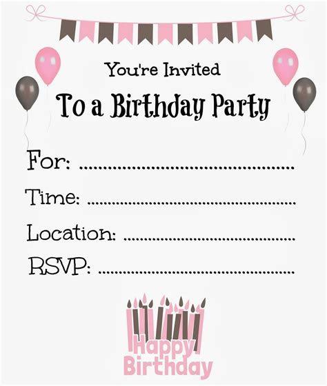 Free Printable Birthday Invitations For Kids #birthday #