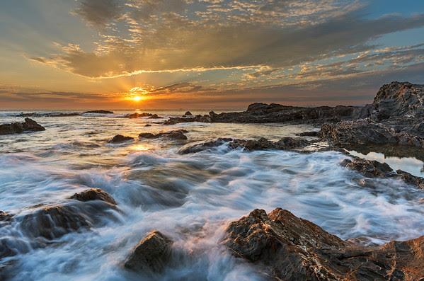 light rays, Palos Verdes sunset
