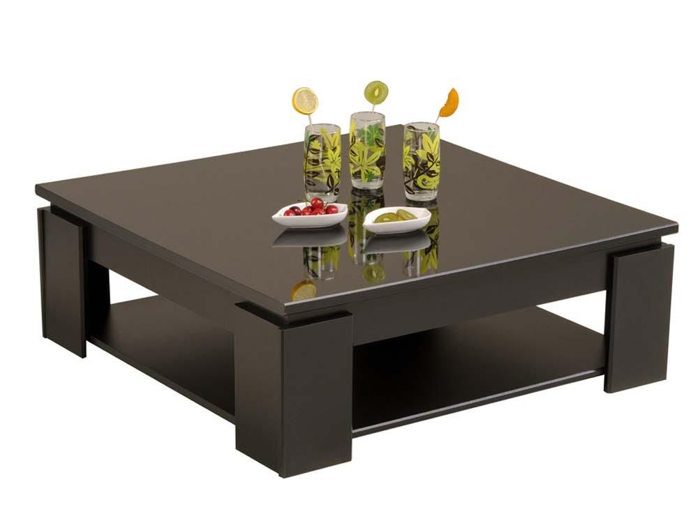 Table Basse Kala 89 X 31 X 89cm Noir Laqué 52478