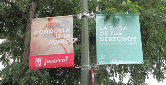 Cartel puertas abiertas Tribunal Supremo Madrid