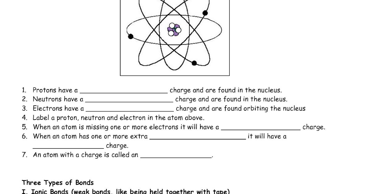 Basic Atomic Structure Worksheet Answers - worksheet