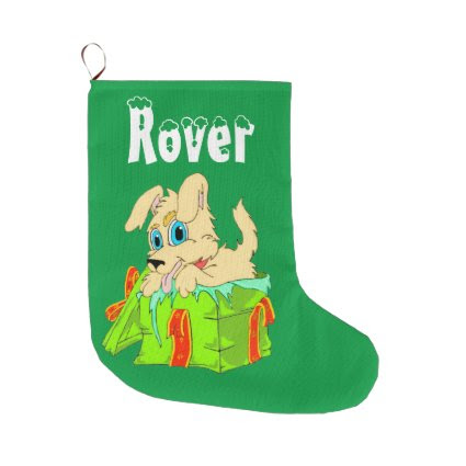 Personalized Dog Christmas Stocking Large Christmas Stocking