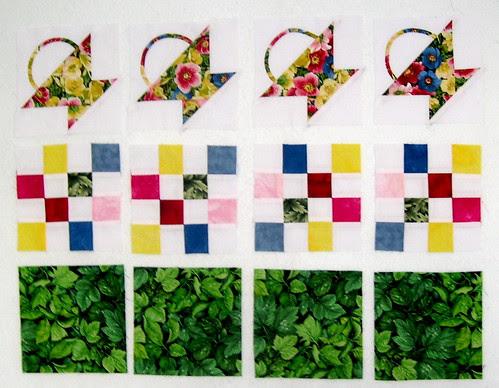 Plain Fabric Squares for the bottom